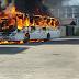 Ônibus e carro em chamas na Praia do Meio e Mãe Luiza