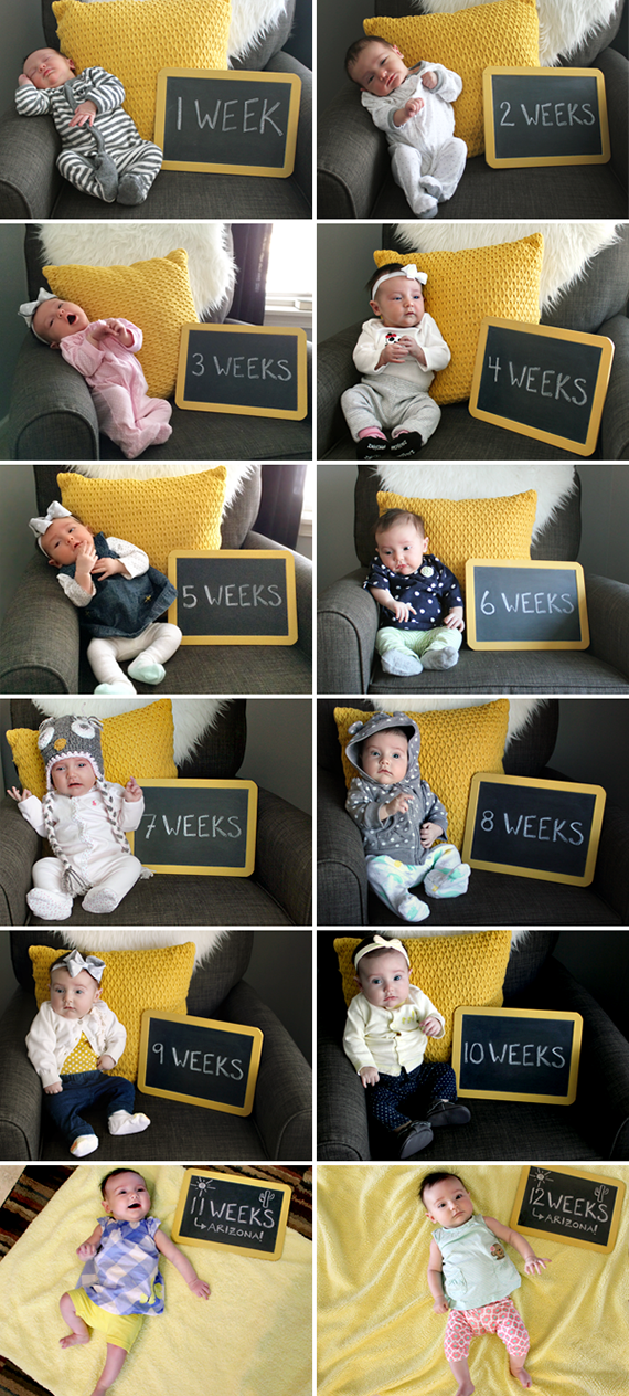 Documenting Baby, Week By Week // Bubby and Bean