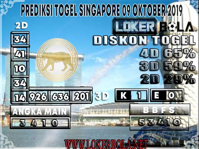 PREDIKSI TOGEL SINGAPORE LOKERBOLA  09 OKTOBER 2019