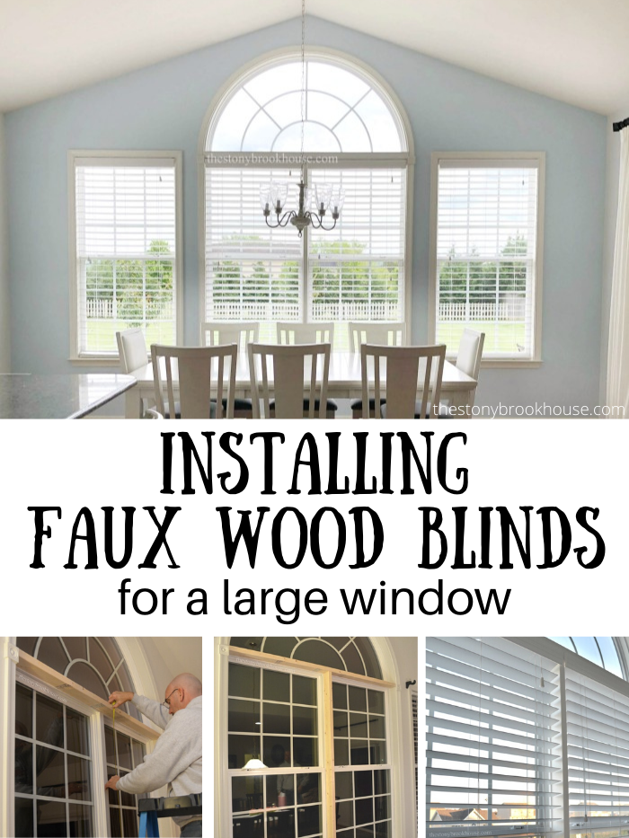 Installing New Faux Wood Blinds For A Large Window