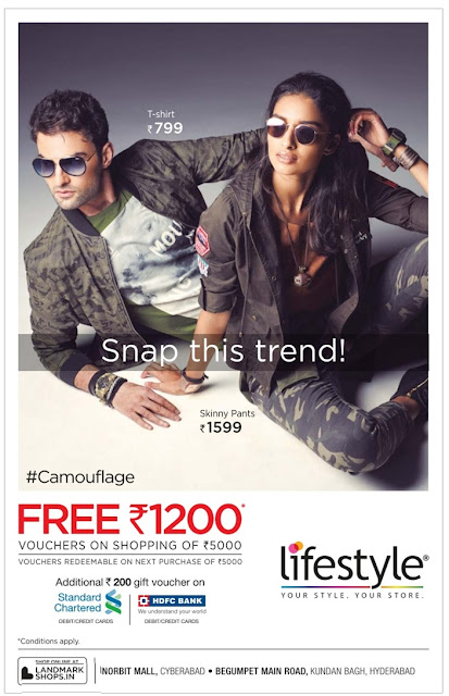 Free gift voucher of Rs 1200 in Life Style| October 2016 discount offer | Dasshera , Diwali festival offer
