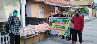 Hadapi Corona, Aliansi Nasional Anti Syiah Sulteng Bagi Paket Sembako