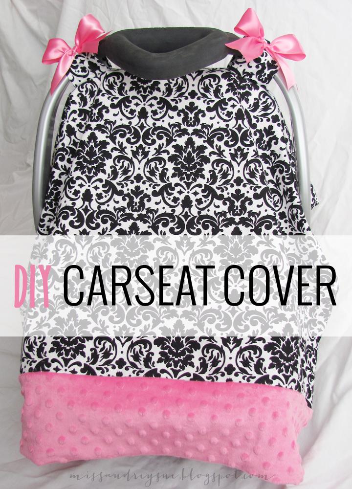 Diy Carseat Cover Tutorial Miss Audrey Sue