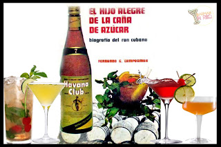 cócteles cubanos barman in red