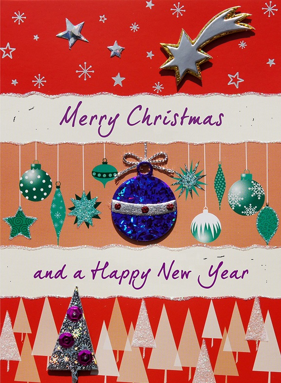 New Year and Christmas Cards Wallpapers