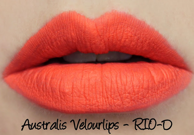 Australis Velourlips Matte Lip Cream - RIO-D Swatches & Review