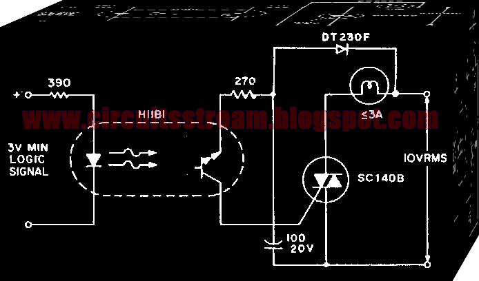 Simple Indicator Lamp Driver Circuit Diagram