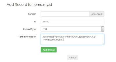DNS TXT record Google Search Console