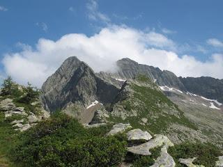 Blick von der Bass di Pertüs auf Triangolino und Monte Zucchero