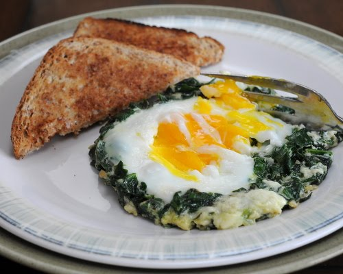 Easy Spinach Nests ♥