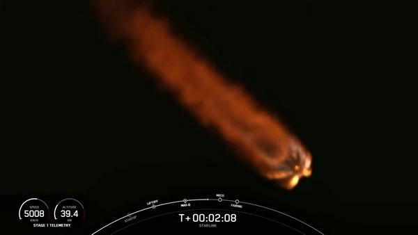 Space X: In orbita 60 satelliti Starlink per la connettività internet. distrutto il primo stadio della missione Falcon 9
