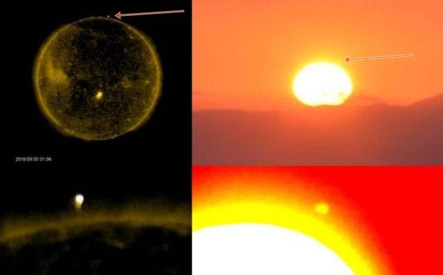 NASA and Skywatcher caught same Huge Object near the Sun  UFO%2Bhuge%2Bobject%2Bnear%2BSun%2B%25282%2529
