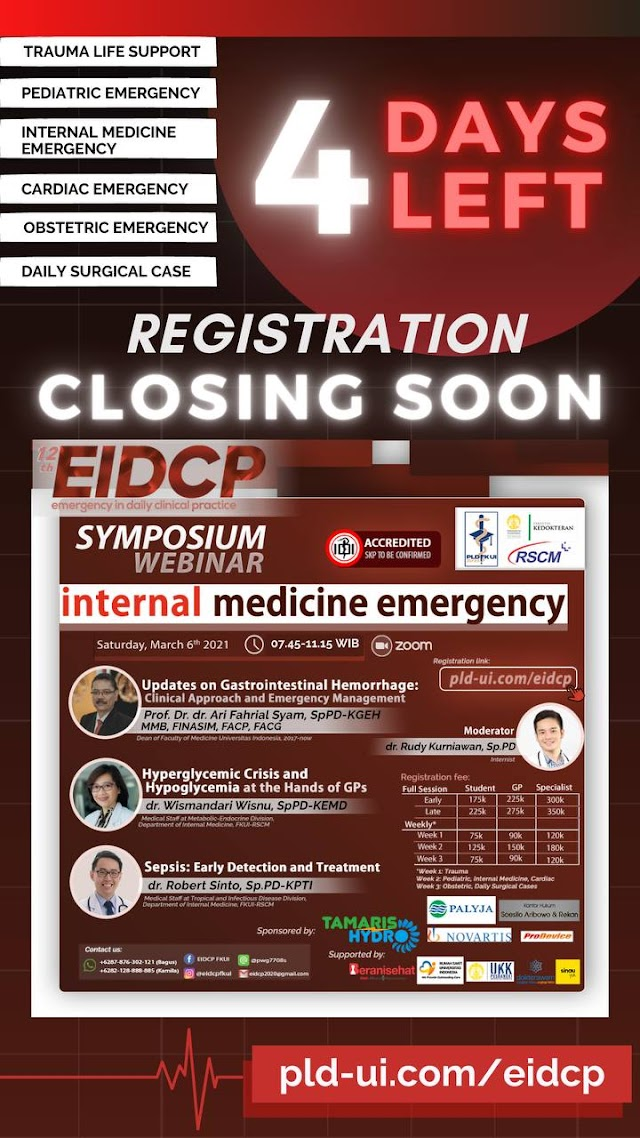 4 DAYS LEFT: THE 12TH EMERGENCY IN DAILY CLINICAL PRACTICE MAIN EVENT WEBINAR 2021
