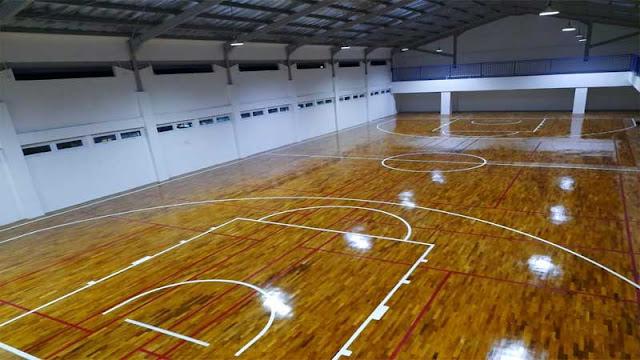 lantai parket jati untuk lapangan indoor