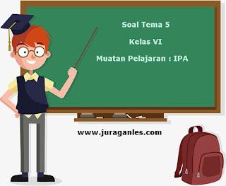 Soal Tematik Kelas 6 Tema 5 Kompetensi Dasar IPA dan Kunci Jawaban
