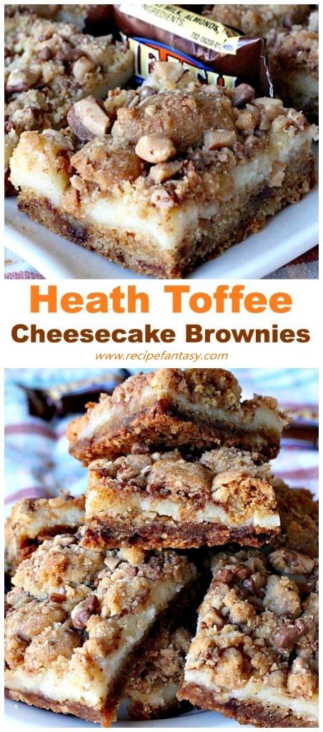 Heath Toffee Cheesecake Brownies