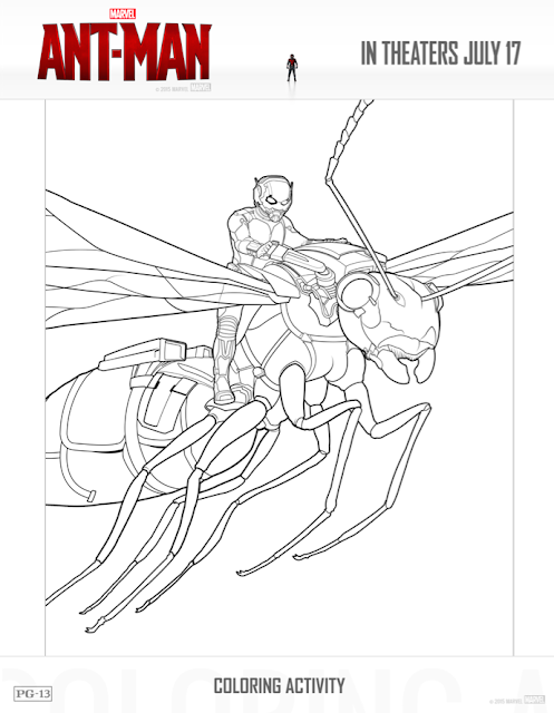 ant-man free printables: free coloring sheets