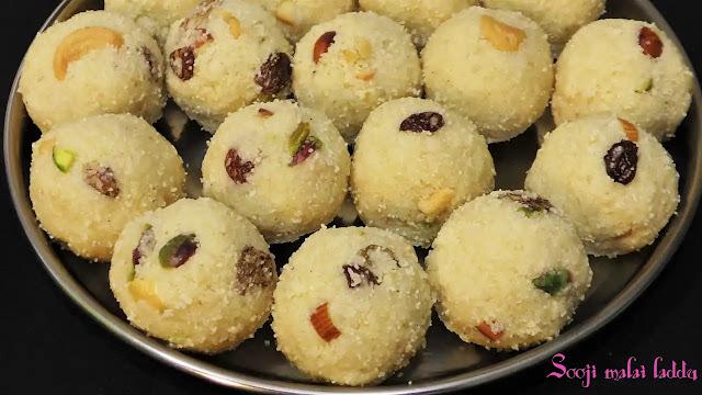 Delicious sooji malai laddu makes at home
