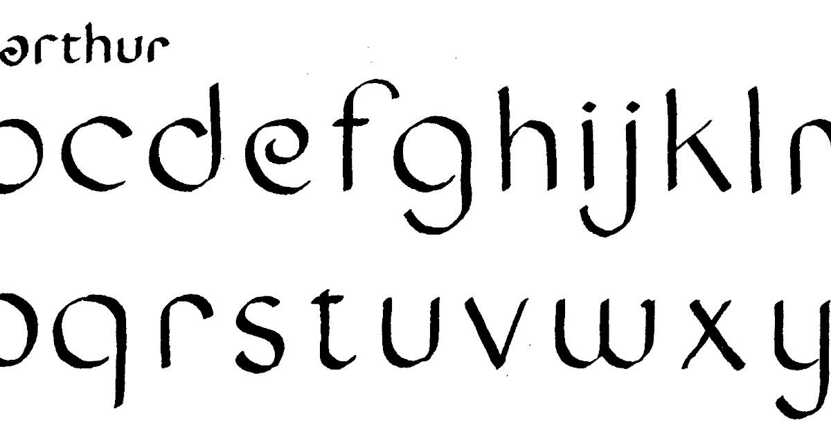 Margaret Shepherd: Calligraphy Blog: 104 King Arthur