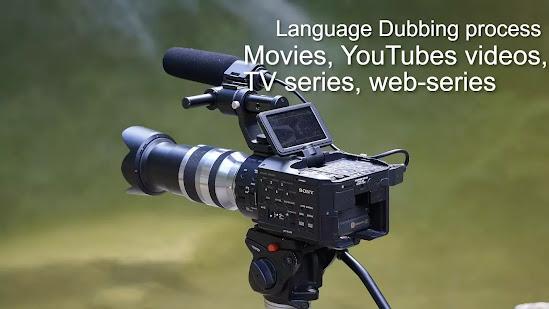 A USB-MICROPHONE, major process of dubbing hollywood movie to hindi, Hindi Dubbed movies process