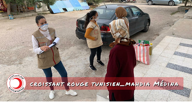 """المهدية : الهلال الأحمر التونسي يوفّر """" قفة العيد """" لـ 103 عائلة"""
