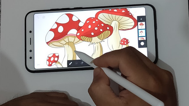 Menggambar dengan stylus