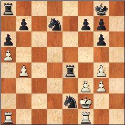 Partida de ajedrez Seresols - Ribera 1936, posición después de 25.Txe4
