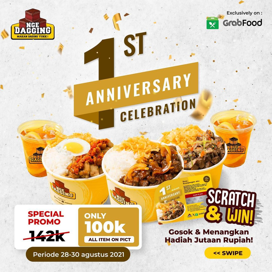 Promo NGEDAGGING Give Away 1st Anniversary