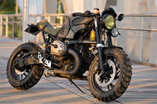 BWM R1200S độ phong cách Army/Scrambler từ dáng Sportbike