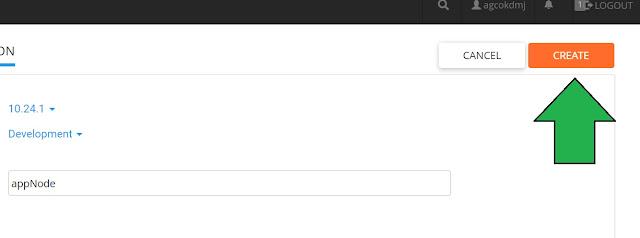 lokasi tombol create folder nodejs di cPanel