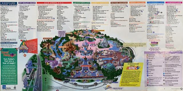 Disneyland Map December 24-30 1999