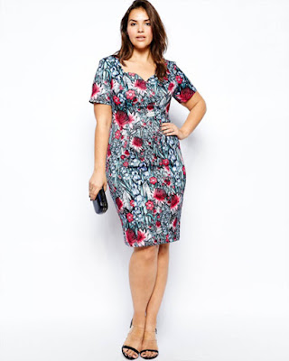 vestido entallado con flores corto elegante tumblr de moda