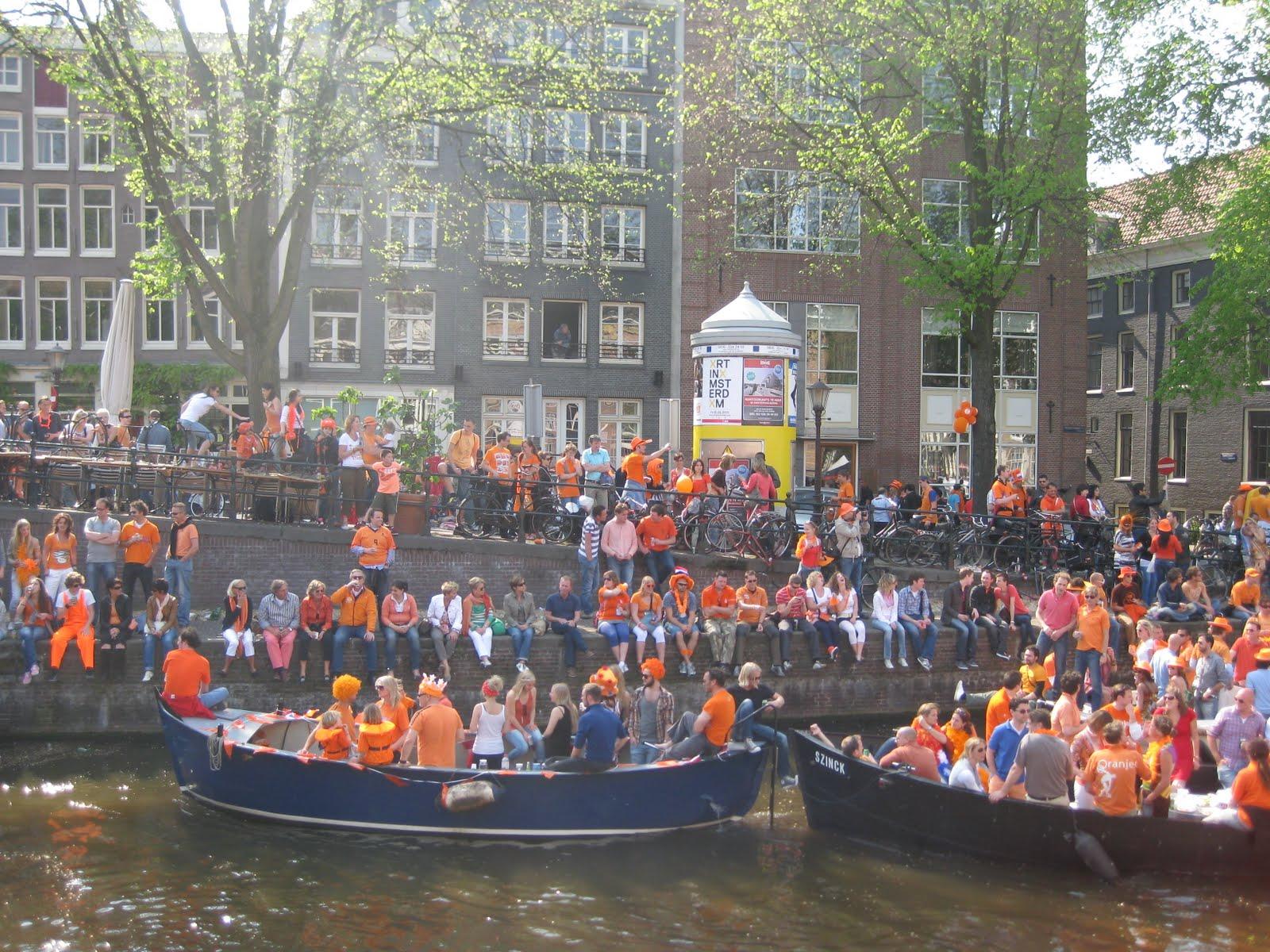 Koninginnedag in Amsterdam