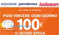 Logo Concorso ''E tu...di che dente sei?'' vinci 112 carnet di buoni spesa da 100€ ciascuno
