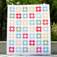 Churn Dash free quilt pattern from A Bright Corner