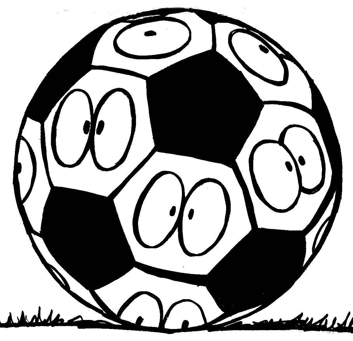Pallone Da Calcio Da Colorare