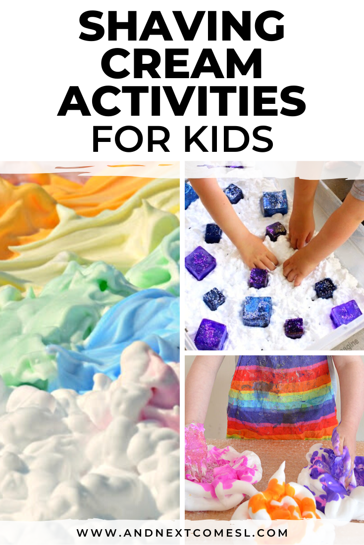 Shaving cream activities and sensory play ideas for toddlers and preschoolers