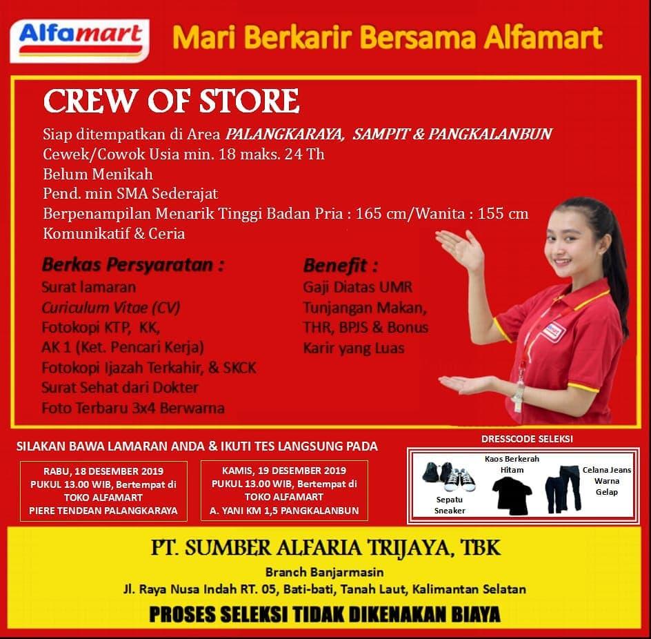 Lowongan Kerja Alfamart Lowongan Kerja Kalimantan Tengah