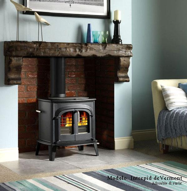 15 modelos de estufas a lena para estancias reducidas - Tipos de lena para chimeneas ...