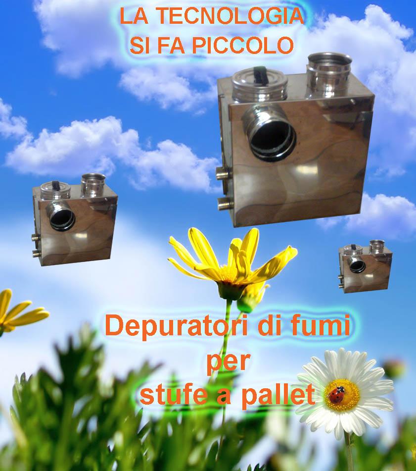 Ecology and technology companies srl abbattitore di for Cancelletti per stufe a pellet