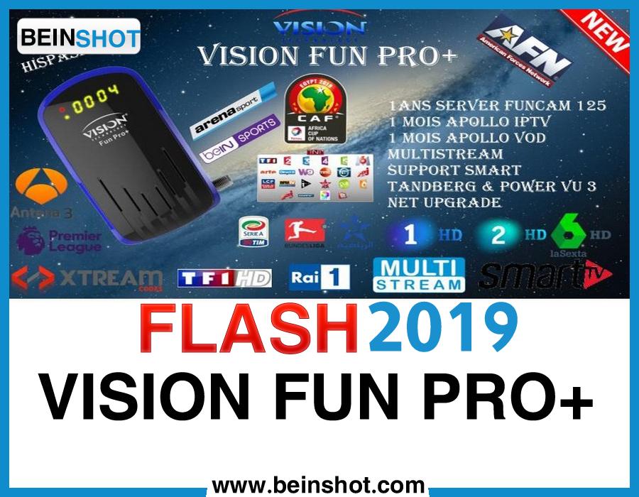 التحديث الأخير و الرسمي لجهاز +VISION FUN PRO