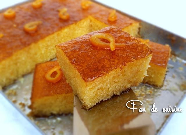Basboussa l 39 orange fan de cuisine for Amour de cuisine basboussa