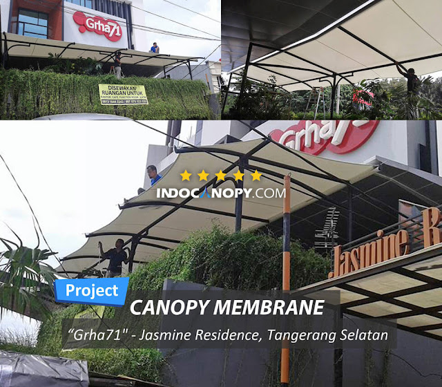 canopy kafe bahan membrane