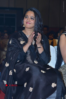 Actress Anushka Anushka Shetty Stills in Black Salwar Kameez at Om Namo Venkatesaya Audio Launch Event  0009.JPG