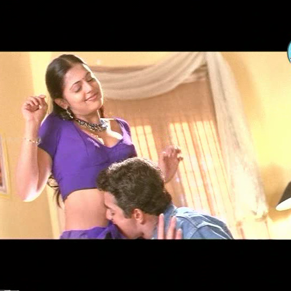 Sindhu Menon hot navel and cleavage show in saree