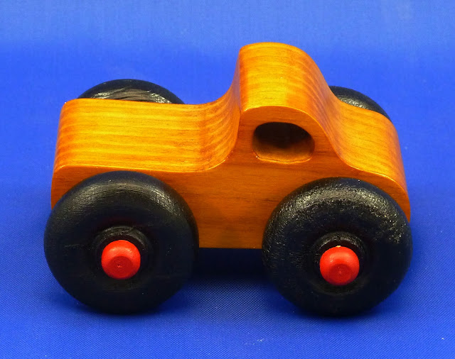 Handmade Wood Toy Monster Truck Based On The Play Pal Pickup Design