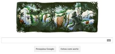 Cataratas do Iguaçu como logotipo do Google