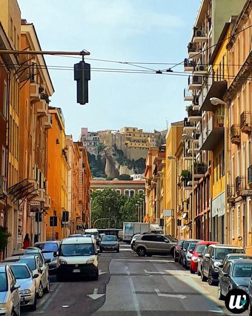 Street in Cagliari, driving | Sardinia, Italy | wayamaya