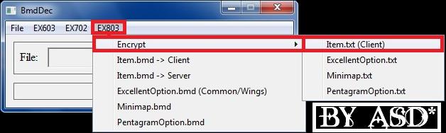 Encriptando el archivo item.txt