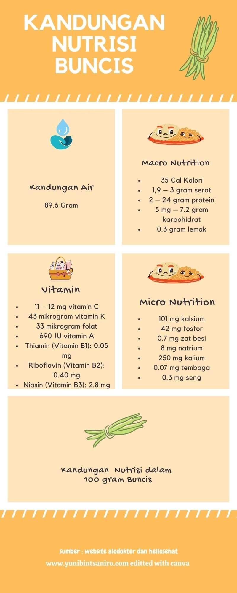 Kandungan Nutrisi Buncis